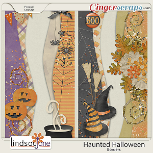 Haunted Halloween Borders by Lindsay Jane