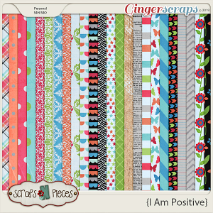 I Am Positive Patterned Papers by Scraps N Pieces