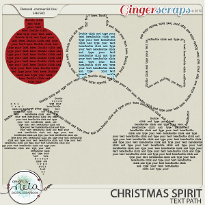 Christmas Spirit - Text Path - by Neia Scraps