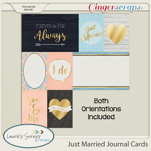Just Married Journaling Cards
