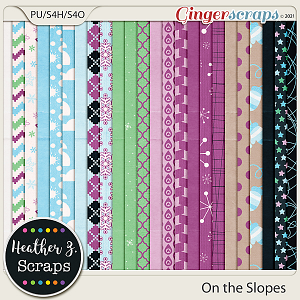 On the Slopes PAPERS by Heather Z Scraps