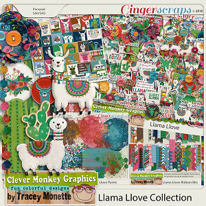 Llama Love Collection by Clever Monkey Graphics