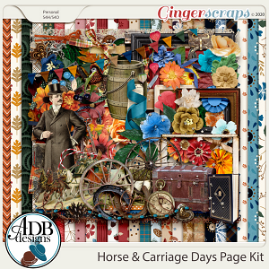 Horse & Carriage Days Page Kit by ADB Designs