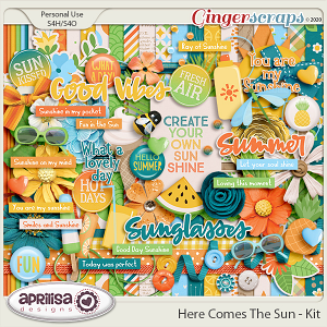 Here Comes The Sun - Kit by Aprilisa Designs