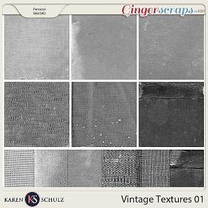 Vintage Textures 01 by Karen Schulzs