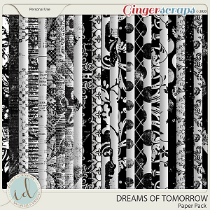 Dreams Of Tomorrow Paper Pack by Ilonka's Designs