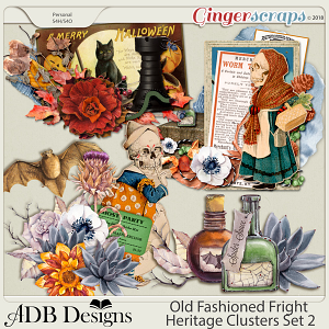Old Fashioned Fright Heritage Clusters Set 2 by ADB Designs