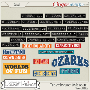 Travelogue Missouri - Word Bits by Connie Prince
