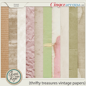 Thrifty Treasures Vintage Papers by Chere Kaye Designs