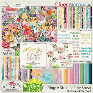 Crafting_A Stroke of the Brush Complete Collection by Alexis Design Studio and Key Lime Digi Design