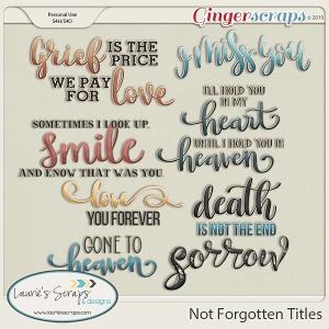 Not Forgotten Titles