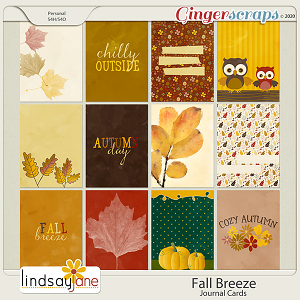 Fall Breeze Journal Cards by Lindsay Jane