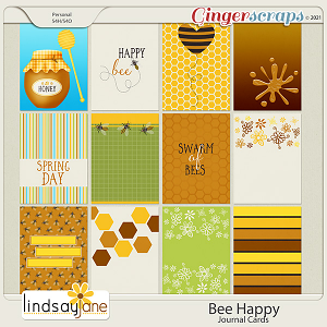 Bee Happy Journal Cards by Lindsay Jane