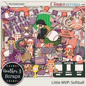 Little MVP: Softball ELEMENTS by Heather Z Scraps