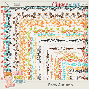 Baby Autumn-Page Borders