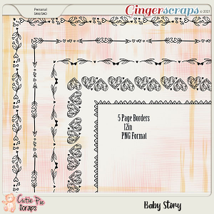 Baby Story Page Borders