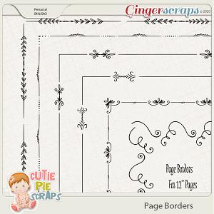 Page Borders 02 By Cutie Pie Scraps
