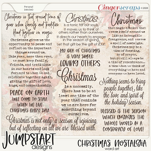 Christmas Nostalgia {Word Art}