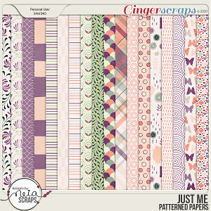 Just Me - Patterned Papers - by Neia Scraps