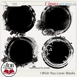 I Wish You Love Photo Masks by ADB Designs