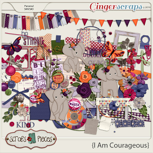 I Am Courageous Embellishments by Scraps N Pieces
