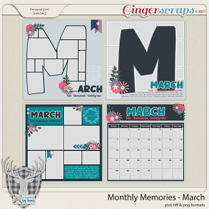 Monthly Memories - March by Dear Friends Designs by Trina