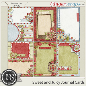 Sweet And Juicy Journal and Pocket Scrapbooking Cards