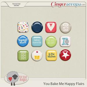 You Bake Me Happy Flairs by Luv Ewe Designs