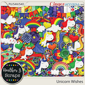 Unicorn Wishes KIT by Heather Z Scraps