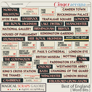 Best of England (word bits)