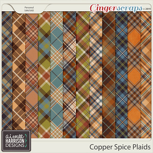 Copper Spice Plaid Papers by Aimee Harrison
