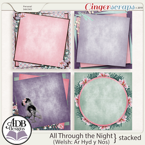 All Through The Night Stacked Papers by ADB Designs