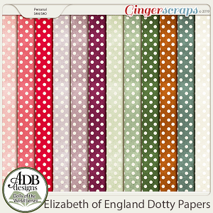 Elizabeth Dotty Papers {DOTW England} by ADB Designs