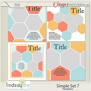 Simple Set 7 Templates by Lindsay Jane