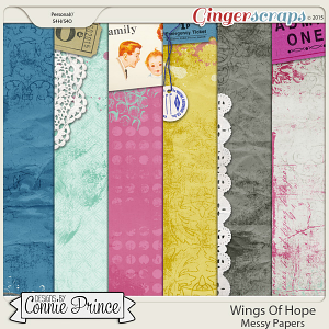 Wings Of Hope - Messy Papers