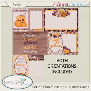 Count Your Blessings Journal Cards