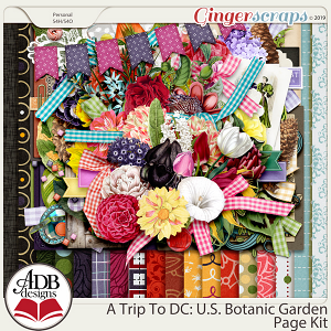A Trip To DC - U.S. Botanic Garden Page Kit by ADB Designs