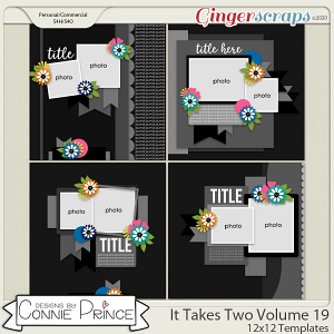 It Takes Two Volume 19 - 12x12 Temps (CU Ok) by Connie Prince