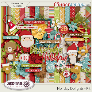 Holiday Delights - Kit by Aprilisa Designs