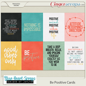 Be Positive Journal Cards