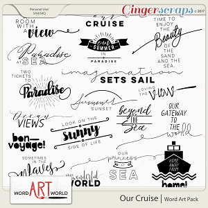 Our Cruise Word Art