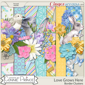 Love Grows Here - Border Clusters by Connie Prince