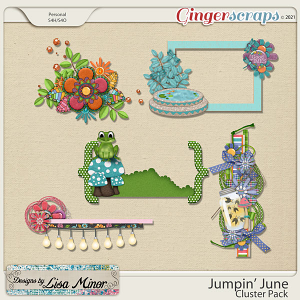 Jumpin' June Cluster Pack from Designs by Lisa Minor