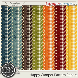 Happy Camper Pattern Papers