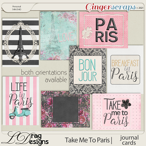 Take Me To Paris: Journal Cards by LDragDesigns