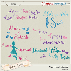 Mermaid Kisses Word Art
