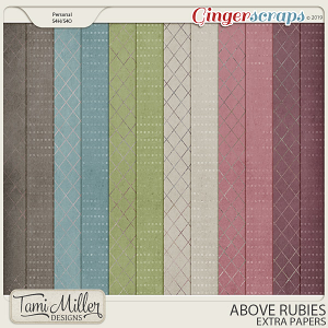 Above Rubies Extra Papers by Tami Miller Designs