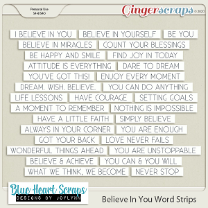 Believe In You Word Strip Pack
