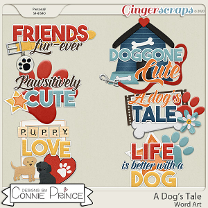 A Dog's Tale - Word Art Pack by Connie Prince