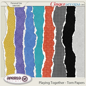 Playing Together - Torn Papers